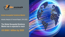 Global Geospatial Solutions Market to reach a market size of $549.1 billion by 2025- KBV Research